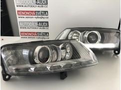 BiXenonové světlomety Audi A6 (4F) LED svícení